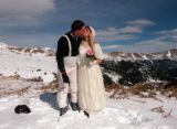 The eighth annual Valentine's Day group wedding at Loveland ski area last Feb. 14 lured 93 couples...
