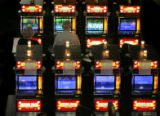 Patrons play slot machines at the Ameristar Casino, 111 Richman St., Monday afternoon May 8, 2006...