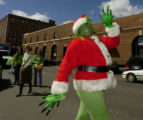 (DENVER, Colo., March 17, 2005) Jim Viles (cq) plays the Grinch that stole St. Patrick's Day as he...
