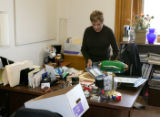 Colorado State Representative Alice Borodkin (cq), House district 9, works on cleaning out her...