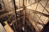 The disabled elevator shaft of an abandoned titan 1 missile complex 15 miles east of Denver on...