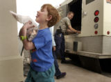 Evergreen, Co.  4/28/04.  Connor Fisher, 5, a kindergartner at  Montessori School of Evergreen,...