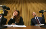 Mimi Wesson, Chair of the Investgative Committee, left, and Eric Elliff, Counsel to the Standing...