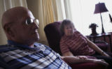 (LITTLETON, Colo., March 29, 2005) Portrait of Howard Adams, left, and his wife, Jan Adams, right,...