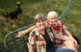 (LT. TO RT.) Cheryl Siefert, 54, of Golden, and her partner of 27 years Leona Lawrence, 53, of...