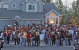 Candle Light vigil at 8056 78th Circle in Arvada for 16-year-old students Alex Livesay and Chayce...