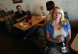 Portrait of Patty Higginbotham (cq), owner of Cafe de France in Castle Pines, Colo., on Thursday,...
