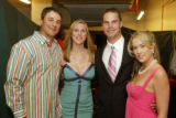(Denver, Colo., May 13, 2006) Mike and Julie Leach with Bradlee Van Pelt and Brittany Bowlen. ...