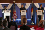 Candidates for governor Marc Holtzman, Bill Ritter and State Sen. Shawn Mitchell (R-SD23) who was...