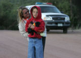 Teddi Gray  and her nephew Evan Thompson, an 8 year old boy who had been missing since early...