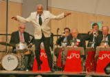 Arthur Duncan (cq), 72, preforms backed up by the Joe Peterson Orchestra at the Colorado...