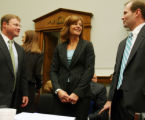 Erin Toll prepares to testify on Capitol Hill on Wednesday, April 26, 2006 in Washington. (Lauren...