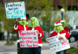 (DENVER, Colo., April 28, 2004)  Dressed in the Grinch Who Stole Christmas costumes a group of six...
