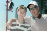 Family photo of Alex Livesay with his father Mark Livesay. The 16 year old Alex Livesay, a Pomona...
