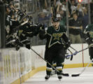 Dallas Stars' Jussi Jokinen (36) celebrates with the Stars bench, after scoring a goal during...