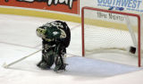 Dallas Stars goalie Marty Turco (35) is sad, after the Stars 3-2 loss to Colorado during the...
