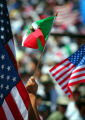 "American and Mexican flags waved in abundance at ""We Are America/Somos America"", a..."
