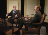 (DENVER, CO., March 21, 2005) Former Congressman Scott McInnis, left,  appeared for a taping of ...