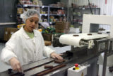 Diana Silva lines up Larabars before they are wrapped, Thursday morning, March 29, 2007, at...