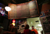 The menu and kitchen at the Walnut Room at 3131 Walnut St. in Denver's LoDo on a Sunday night...