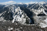 "Ajax, foreground, and Aspen Highlands, right, are featured in ""Aspen Ski and Snowboard..."