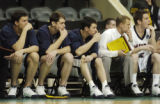 **SPECIAL FOR ROCKY MOUNTAIN NEWS**Metro State's bench looks dejected in the final seconds of the...