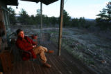 Cozette Swickard (cq) sits an looks over her property at North Ridge Road in Castle Rock on April...