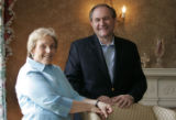 WXSC105 - Former Virginia Governor Jim Gilmore and his wife Roxanne pose during an interview in...