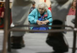 April 2, 2007. 85 year-old Dorothy Hochstedler joins in a town-hall meeting, held at the Holly...