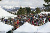 Overview of the Mountain Top Picnic on April 13, 2007, during the Taste of Vail.  The picnic takes...