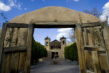 Pilgrims at the Chimayo Sanctuary, on Tuesday, April 3, 2007.  (CHRIS SCHNEIDER/ROCKY MOUNTAIN...