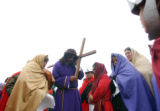 (DENVER, CO. MARCH 25, 20005) Abram Leon (CQ. Abram Leon), of Denver plays his role as Jesus...