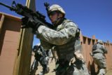 On Thursday, April 19th, 2007 at Fort Carson, soldiers from Echo Company, 1-68 Combined Battalion...