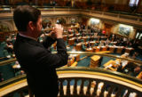 Bugler Richard Duston (cq), plays Taps in the Colorado House as Colorado State Legislature...