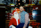 Michael Welch, Sr. as Santa Claus at the Home Depot