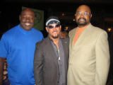From left, Christian Okoye, Steele and Les Franklin. (DAHLIA JEAN WEINSTEIN/ROCKY MOUNTAIN NEWS)...