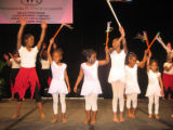 Shaka's Girls perform for the crowd. (DAHLIA JEAN WEINSTEIN/ROCKY MOUNTAIN NEWS) Shaka Franklin...
