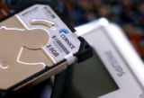 [Longmont, CO - Shot on: 3/25/02]  Detail of a 2 GB hard drive produced by Longmont's Cornice Inc....