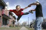 (DENVER, Colo., March 27, 2005) Vicente Arvizo, 5 is having a perfect day at his home near 9th and...