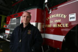 DLM3785  EverGreen Fire Chief Joel Janov at Evergreen Fire Rescue Station 2 in Bergen Park, Colo....