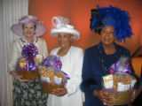 The best hats in the lunch bunch, from left, Isabelle Clark, Run for the Roses; Deborah Ford...