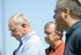 Brian Rohrbough, left, Randy Brown, center, and Rich Petrone, parents of former Columbine...