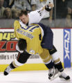 TNMH125 - Anaheim Ducks right wing Shawn Thornton (45) takes down Nashville Predators left wing...