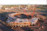 The Pepsi Center arena begins to take shape. Elitch Gardens, a Central Platte Valley centerpiece,...