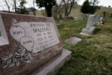 {BOULDER, Colorado,  March 28, 2005}  The grave site of Rhonda Maloney, (cq Rhonda Maloney) at ...