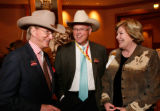 Peter Kellogg with Pat and Carla Grant. (STEVE PETERSON/SPECIAL TO THE NEWS) National Western...