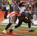 [JPM0051] In the second quarter,  Denver Broncos Javon Walker (84) pulls down a 39-yard touchdown...