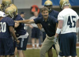 John Beale/Post-Gazette Pittsburgh 3-19-05 University of Pittsburgh football head coach Dave...
