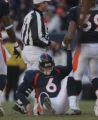 [JPM0254] In the second quarter,  Denver Broncos running back Kyle Johnson (39) helps up Broncos...
