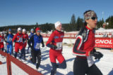 Dillon's Danelle Ballengee (#18) finished eighth in the Winter Triathlon World Championship in...